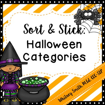 Sort and Stick: Halloween Categories