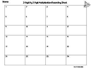 Halloween Themed Multi-Digit Multiplication Task Cards