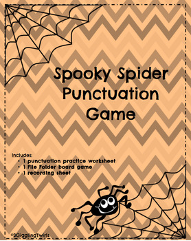 Spooky Spider Punctuation Game