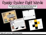 Spooky Spider Sight Words