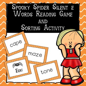 Spooky Spider Silent e Word Reading Game