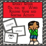 Spooky Spider Vowel Teams OE, OA, OW Reading Game