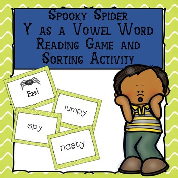 Spooky Spider Y as a Vowel Word Reading Game