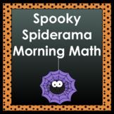 Spooky Spiderama Morning Math