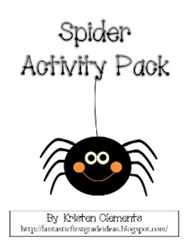 Spooky Spiders Activity Pack