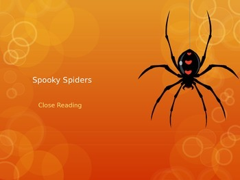 Spooky Spiders Close Reading