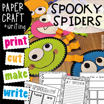 Spiders {Spooky Spider Craftivity Pack}