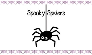 Spooky Spiders Decodable