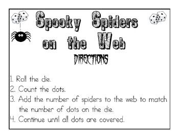 Spooky Spiders:  Differentiated Math Station Games
