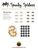 Spooky Spiders Halloween Phonics Game Activity Digraph oo as long u and short u