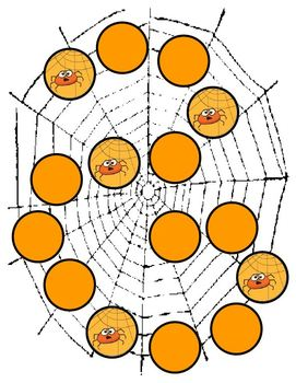 Spooky Spiders Halloween Phonics Game Activity Long e as in -e, -y