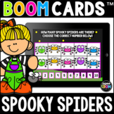 Spooky Spiders Math Boom Cards™ - Halloween/Fall Distance