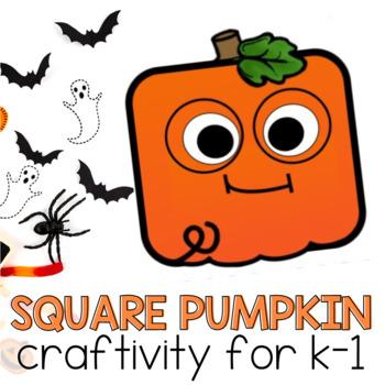 Spooky Square Pumpkin Craft