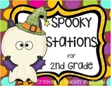 Spooky Stations for 2nd Grade (5 Math Centers)