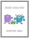 Spooky Steady Beat Movement Cards