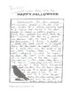 Spooky Stories Halloween Themed Writing Paper