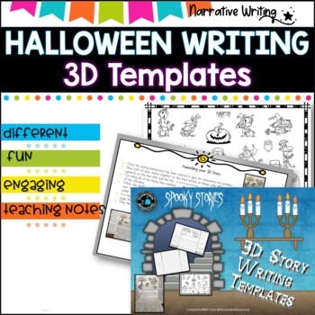 Spooky Stories-Narrative. 3D Story Template #happylaborday
