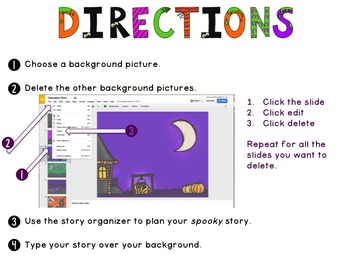 Spooky Stories Digital Lesson {Halloween Writing Activity}