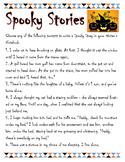 Spooky Story Starters-Halloween
