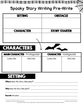 Spooky Story Writing - Halloween Writing Activity