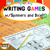 October Writing Prompts with Spinners and Dice Spooky Stories for Halloween