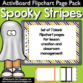 Spooky Stripes ActivBoard Flipchart Page Pack