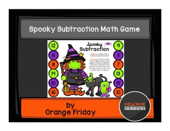 Spooky Subtraction Halloween Math Game