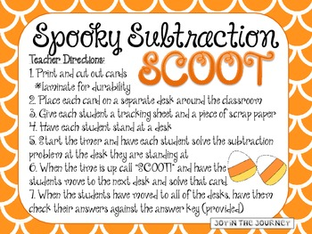 Spooky Subtraction Scoot: Primary