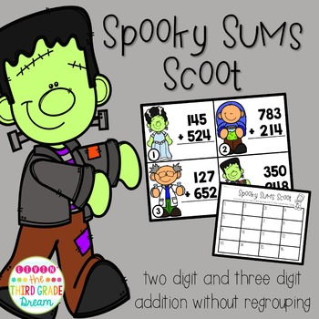 Spooky Sums: Two and Three Digit Addition Without Regrouping