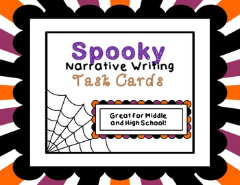 Spooky Suspenseful Narrative Task Cards Middle High School Halloween