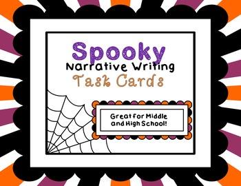 Spooky Suspenseful Narrative Task Cards Middle High School