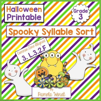 Spooky Syllable Sort - CCSS Halloween ELA Printable