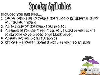 Spooky Syllables