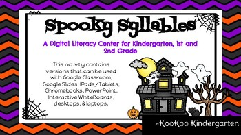 Spooky Syllables-A Digital Literacy Center