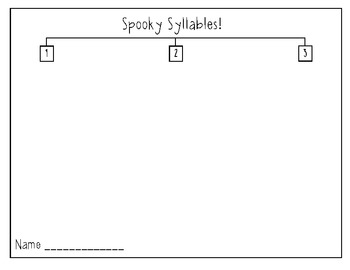 Spooky Syllables- sample from my Fall Pack!