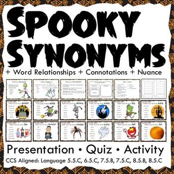 Halloween Activities: Word Relationships Interactive Notebook Activity and Quiz