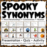 Halloween Activities: Word Relationships Interactive Noteb