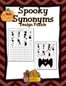 Spooky Synonyms Design Puzzle