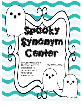 Spooky Synonyms Halloween Literacy Center