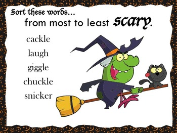 Free Downloads! Halloween Synonyms Interactive Notebook Activity
