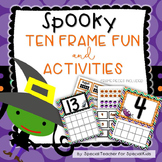 Spooky Ten Frame Fun and Printables {Aligned with Common Core}