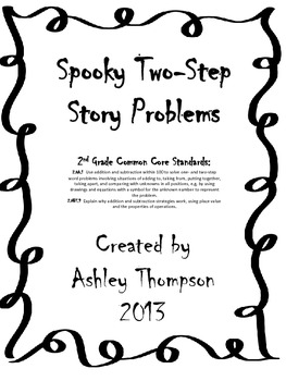 Spooky Two-Step Word Problems
