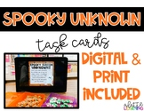 Spooky Unknown Task Cards (Digital and Print!)