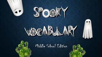 Middle School Halloween Vocabulary Interactive Flashcards Differentiated