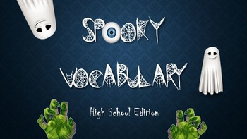 Halloween Vocabulary Interactive Flashcards Differentiated No Prep Pack