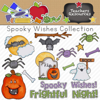 Spooky Wishes Clipart Collection