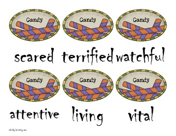 Spooky Word Literacy Game-- a Halloween Common Core Activity