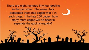 Spooky Word Problems