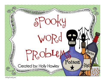 Spooky Word Problems- A Common Core Resource