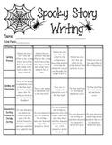 Spooky Writing Rubric
